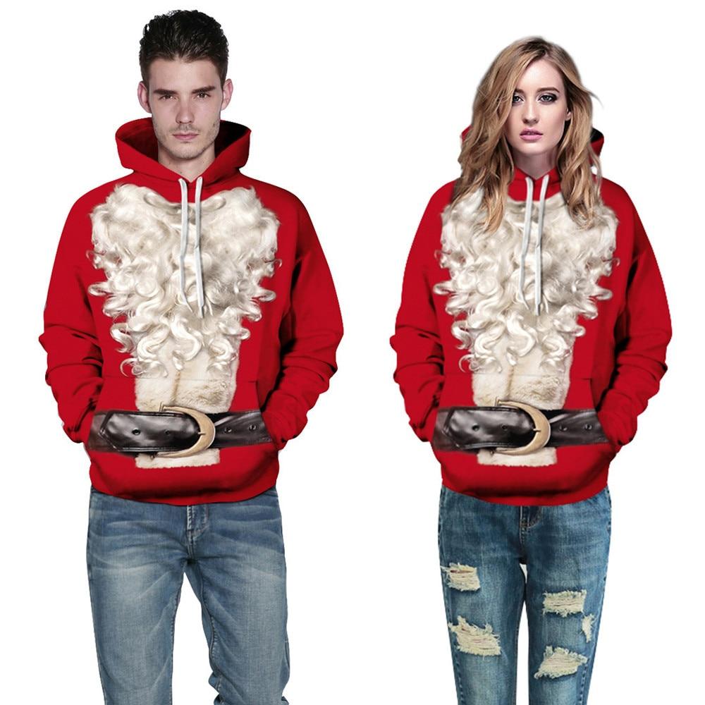Feitong Bts Fashion 2017 Vivid Cool Bts Unisex Women Men Christmas Xmas 3D Santa Printed Sweatshirt Pullover Hoodies Tops
