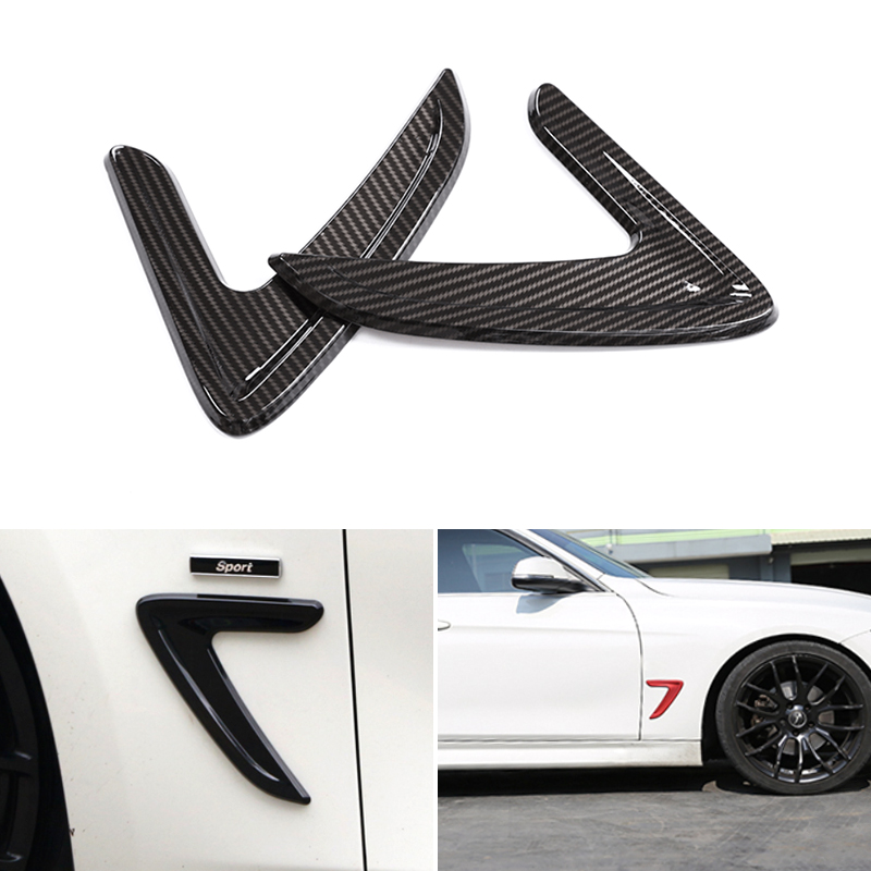 2pcs Car Styling Side Wing Air Flow Fender Grill Outlet Intake Vent Trim For BMW 3 Series F30 2013 2014 2015 2016 2017 2018 in Styling Mouldings from Automobiles Motorcycles