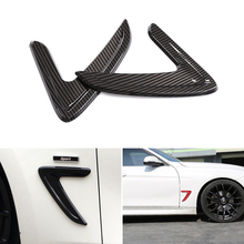 2pcs Car Styling Side Wing Air Flow Fender Grill Outlet Intake Vent Trim For BMW 3 Series F30 2013 2014 2015 2016 2017 2018