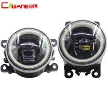 Cawanerl 2 шт. стайлинга автомобилей светодио дный лампы передние противотуманные светлый Ангел глаз днем ходовые огни DRL 12 В для 2004- 2015 Citroen C5