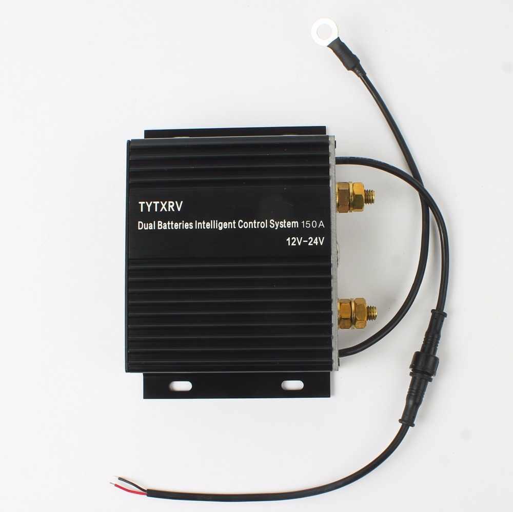tytxrv 150a intelligent multiple dual battery isolator battery combiner caravan accessories camper motorhome suv [ 1000 x 999 Pixel ]