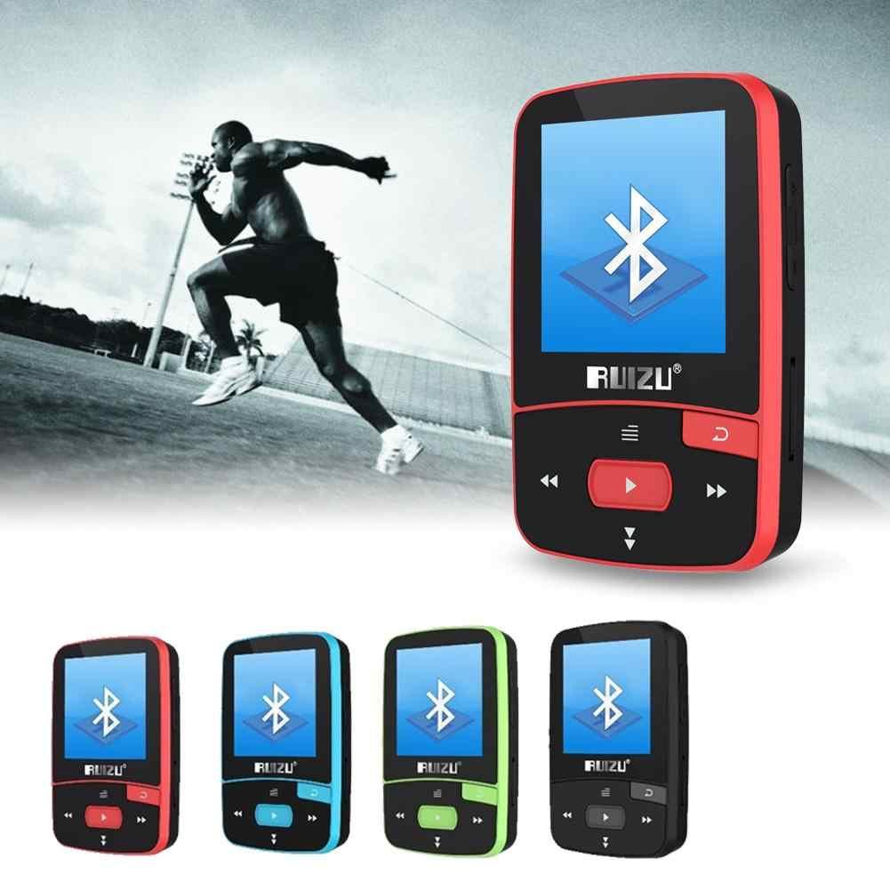 RUIZU X50 Спорт Bluetooth MP3 музыка MP3 плеер Регистраторы FM радио Supprot SD карты клип Bluetooth MP3 плеер 8 ГБ 4 цвета выбор