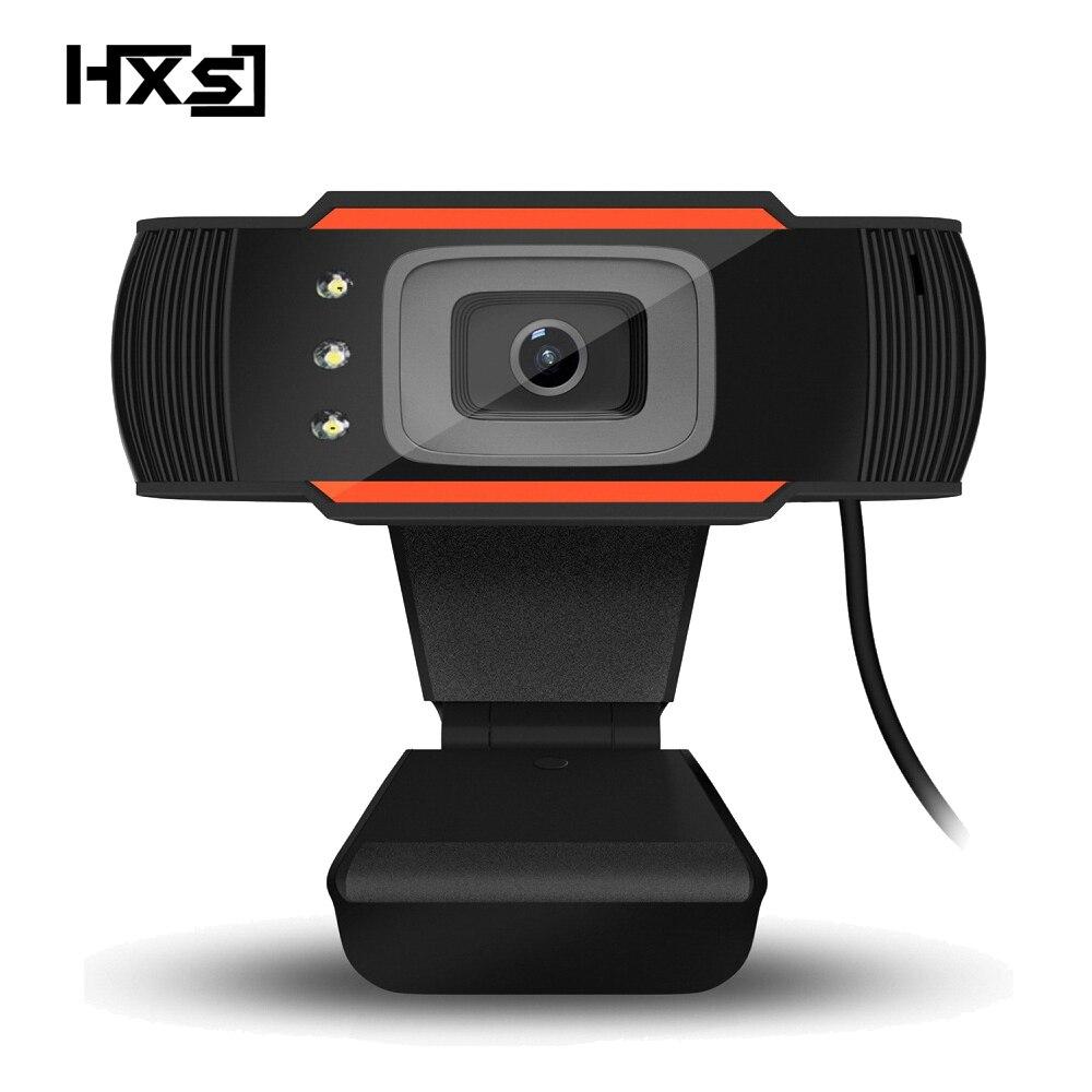 HXSJ 3LED HD Webcam 480 p PC Caméra avec Absorption Microphone MIC pour Skype pour Android TV Rotatif Ordinateur Caméra USB Web Cam