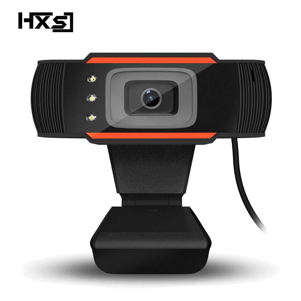 Image 1 - HXSJ 3LED HD webcam 480P PC camera with absorption microphone MIC night vision for Skype PC camera USB webcam-in Webcams from Computer & Office