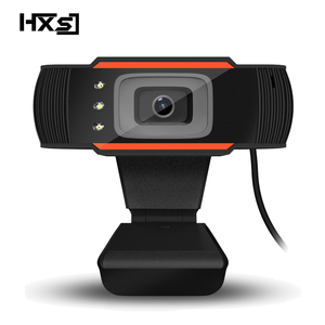Image 1 - HXSJ 3LED HD webcam 480P PC camera with absorption microphone MIC night vision for Skype PC camera USB webcam