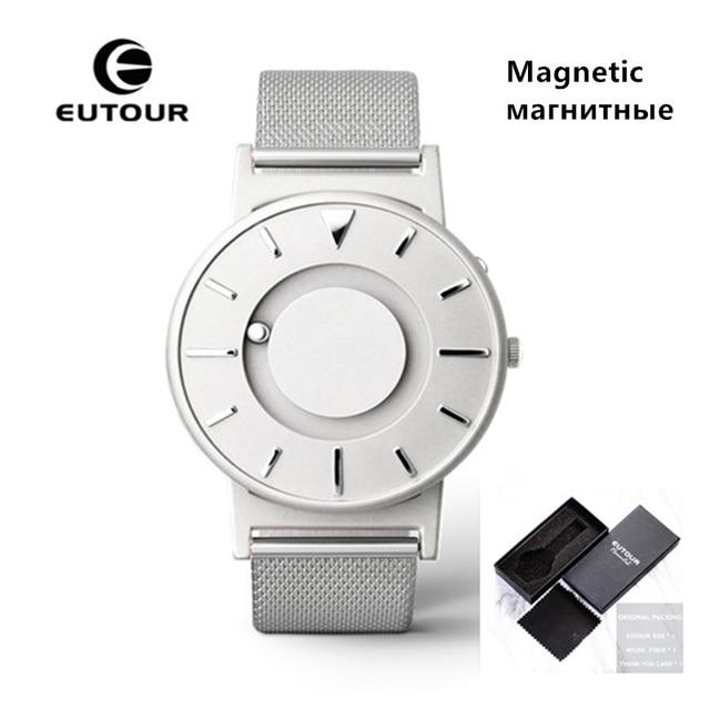 EUTOUR Magnetic Quartz Watch Men Luxury Sports Mens Wristwatches Unisex Watch Stainless Steel Bracelet Watch Waterproof Clock