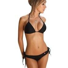 New Swimwear women bikini  Push-up Bandeau Bra Bandage Swimsuit Bathing Suit Swimwear New Beachwear Hot  Bikini Set  #YL