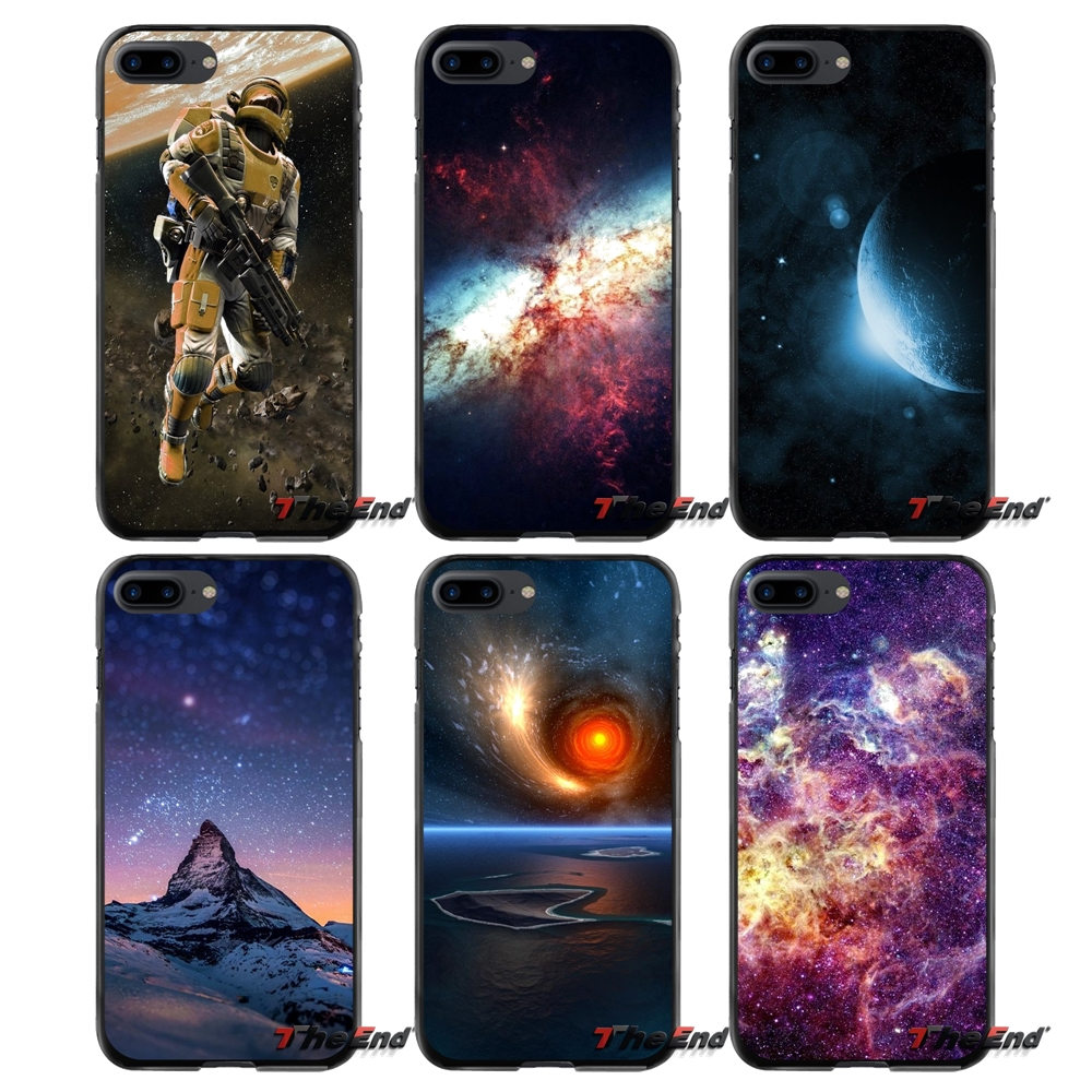 For Apple iPhone 4 4S 5 5S 5C SE 6 6S 7 8 Plus X iPod Touch 4 5 6 Amazing Space Print Accessories Phone Cases Covers