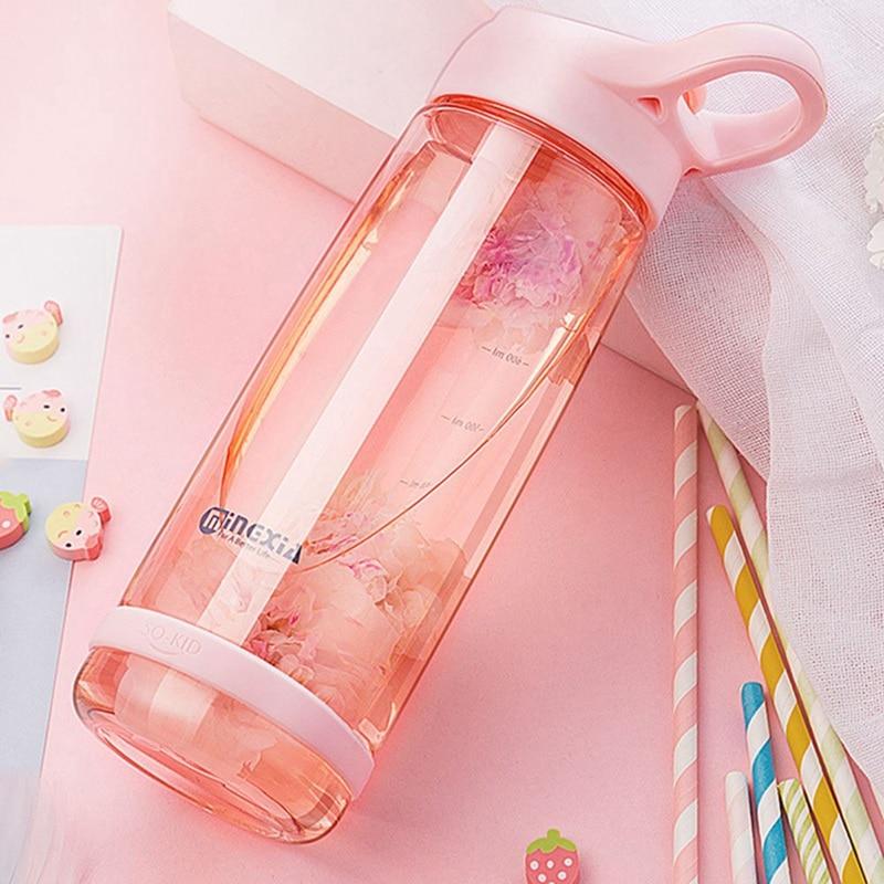 550ml 850ml  Water Plastic Bottle Gourde En Plastic Sport Shaker Bottle Protein Shaker Drink Bottle Plastic With Straw Travel-in Water Bottles from Home & Garden on AliExpress