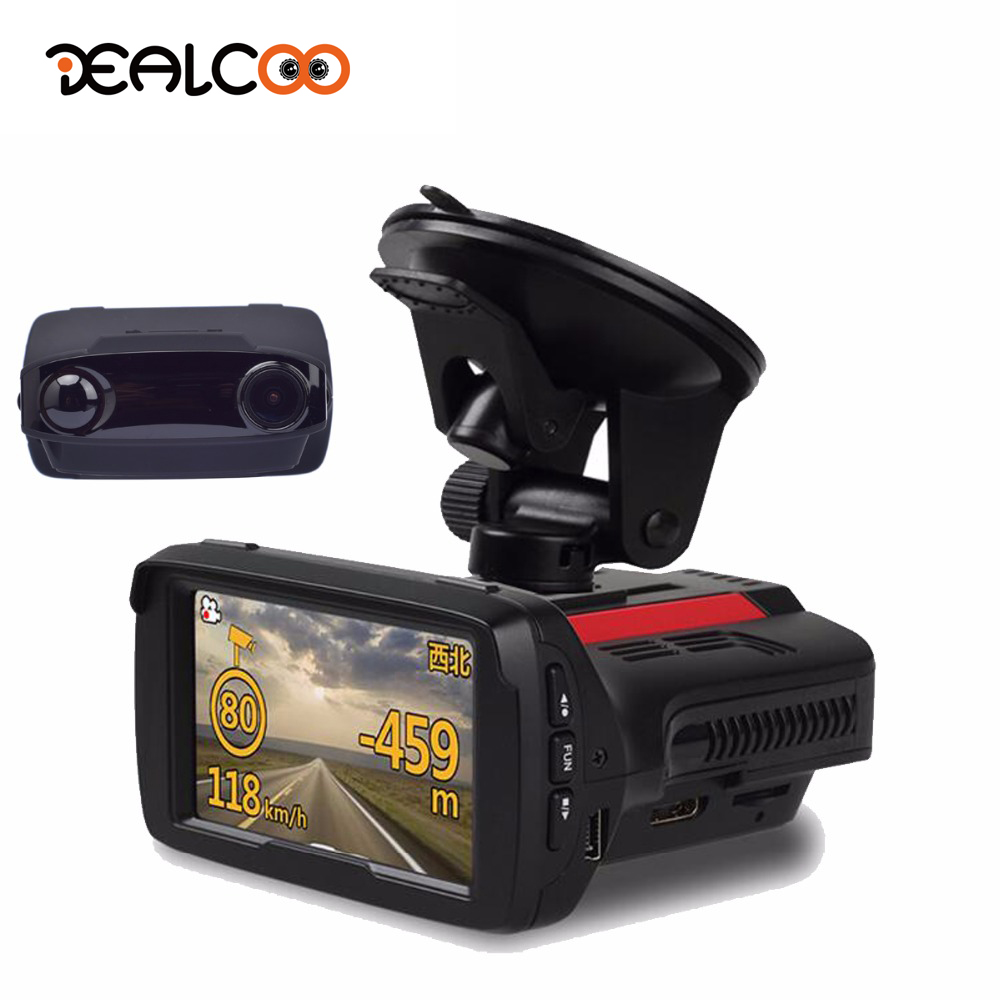 Dealcoo Car Dvr Radar Detector 3 In 1 Dvr Gps Radar Detector GPS Dash Cam 3 In 1 Radar Registrar car Dash Registratore Della Macchina Fotografica Della Macchina Fotografica