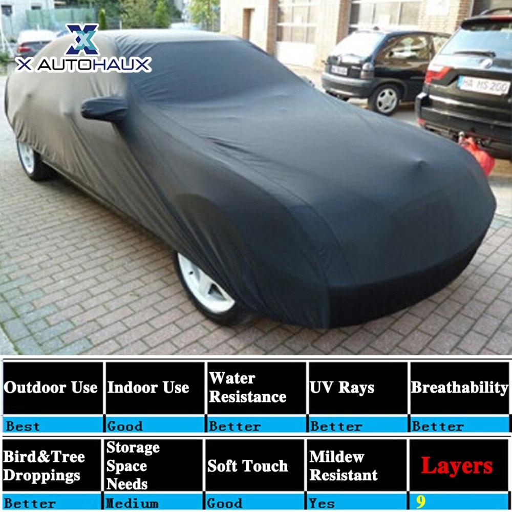 X Autohaux 490*180*160 cm 3XL noir respirant extérieur étanche à la poussière pluie neige Anti UV chaleur bâche de voiture extérieur bâches de voiture - 3
