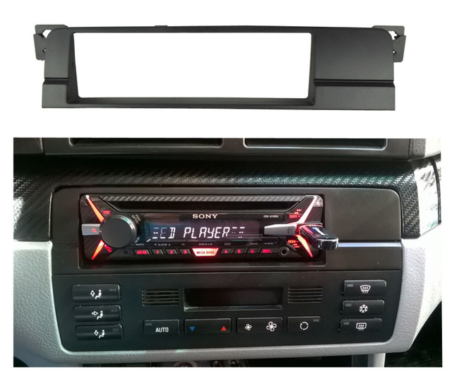 din fascia for bmw 3 series e46 1998 2005 radio cd dvd. Black Bedroom Furniture Sets. Home Design Ideas