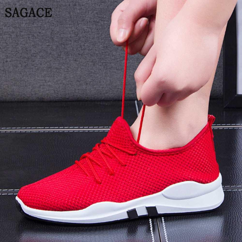 SAGACE Nữ Thoải Mái Tập Gym thể hình Thể Thao Lưu Hóa Giày Lưới Giày Casual Nữ Buộc dây Giày Đơn