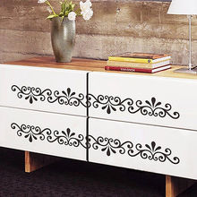 57X7cm Hot Vines Pattern Wall Decals For Bath room kitchen Furniture Multi-Place Removable PVC Wall Sticker Home Decor