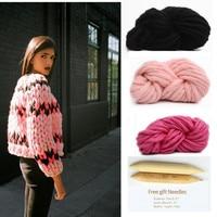 Knitting Wool 1pcs 250g 1 Needle Woolen Yarn Big Thick Knitting Yarn DIY Handmade Knitted Neckerchief