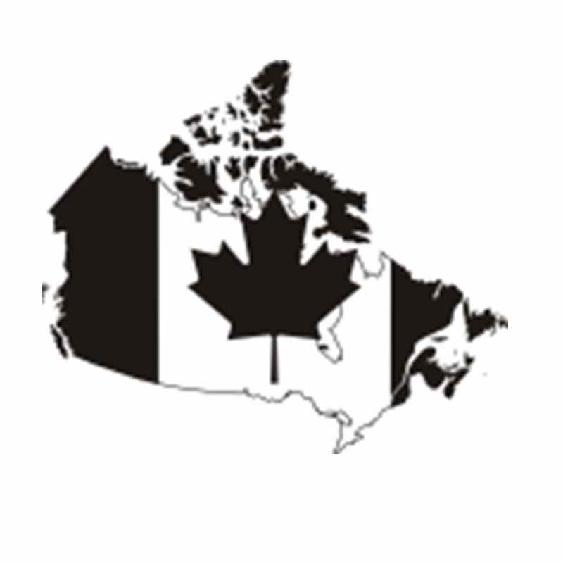 Dctal Canada Map Poster Decal Posters Art Vinyl Wall