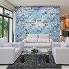 Custom 3D Print Fabric Textile Wallcoverings For Walls Murals Matt Silk For Living Room Flowers Chinese