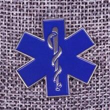 Звезда жизни диабетик медицинский знак оповещения стоматолога брошь Доктор Медсестры пациента подарок SOS символ ювелирные изделия пальто рубашки Эмаль Булавка