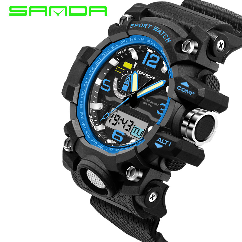 Us 13 76 41 Off Mens New Arrival Rushed Watches 2018 Sanda Fashion Watch Men G Style Waterproof Sports Military Shock Luxury Analog Digital In