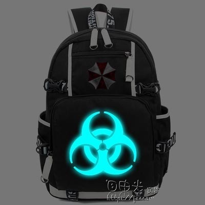 New Resident Evil Luminous Backpack School Bag Bookbag Cosplay umbrella Travel Shoulder Laptop Bags Packsack Gifts