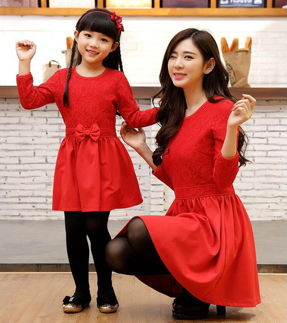 cc10ac436d4 Mother Daughter Dresses Spring Upscale Family Matching Outfits Family  clothing Party Dress Dress for Mom and Baby Girl Clothes