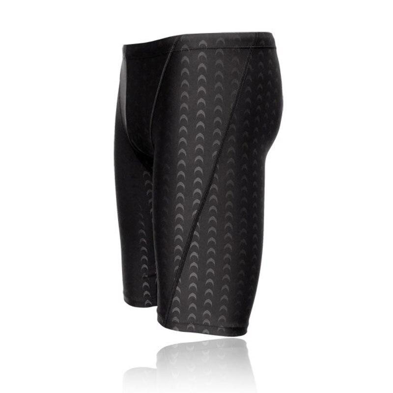 Professional Men Swimwear black swimming trunks Sharkskin swim briefs swimsuit competitive pants Summer beach Shorts