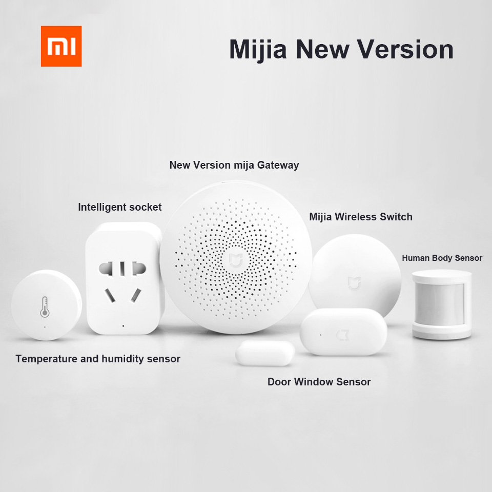 Xiaomi Mijia Smart Home Kits Gateway Door Window Sensor Human Body Sensor Wireless Switch Humidity Zigbee Socket MI New Version
