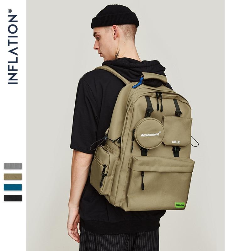 INFLATION Men Backpack 2019 Shoulder Bag Male Fashion Travel Backpacks Fashion Street Style Bagpack Laptop Bags