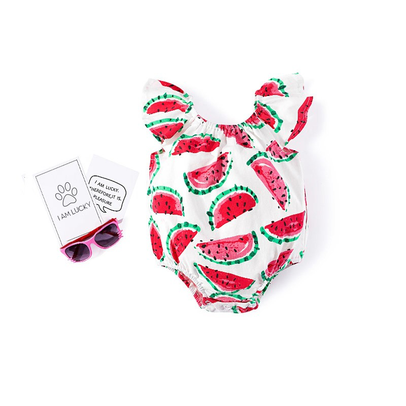 Summer New Baby Onesies Baby Girl Watermelon Print Coveralls Romper Fashion Baby Clothes