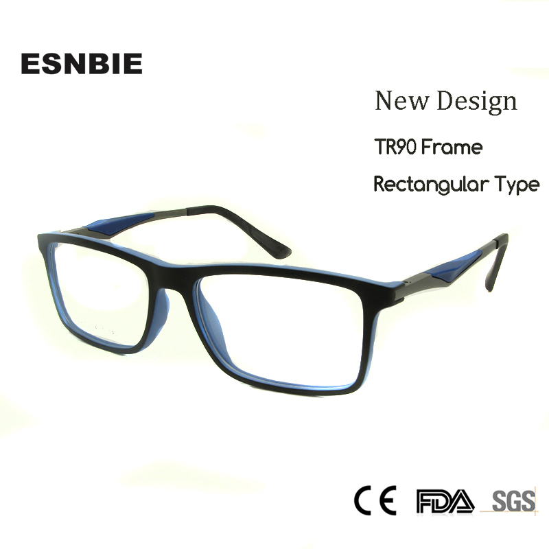 45761c3c0b7 ESNBIENew Brand Designer TR90 Frame Glasses Men High Quality Spectacle Frame  Women Myopia Glass Nerd Glasses in Clear Glasses Rx