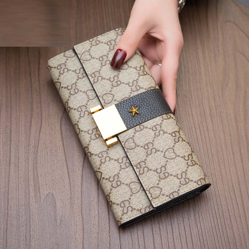 2018 New Women Luxury Genuine Leather High Quality Long Design Clutch  Cowhide Wallets Large capacity Fashion stars Female Purse 004356666d8ff