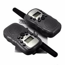 Универсальный Портативный многоканальный 2-способ T-388 двойной регулируемый ЖК-дисплей 5 км UHF Авто VOX Радио Беспроводной путешествия Портативная рация Pro