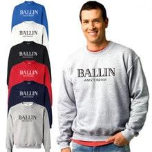 Новый осень и зима толстовка Ballin Амстердам принт с длинными рукавами толстовки 100% Хлопок Свободные О-образным вырезом для мужчин и женщин кофты
