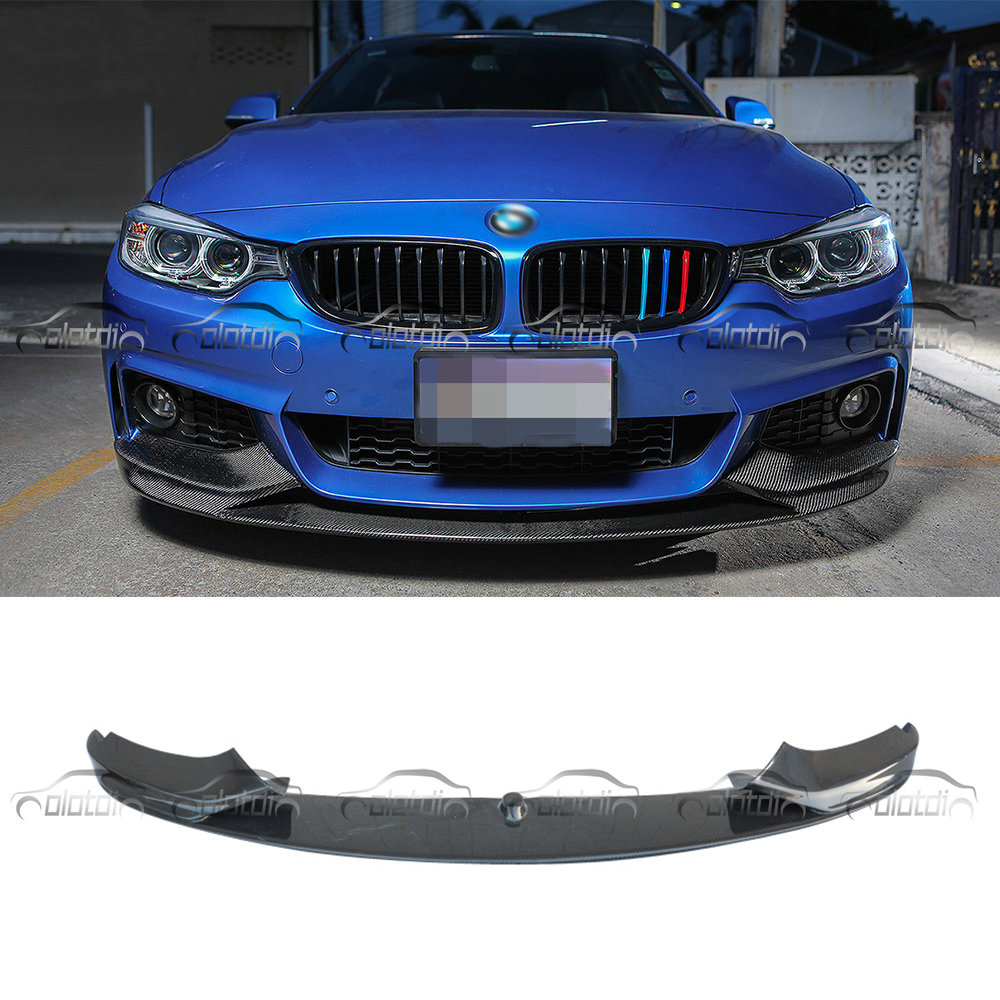 P Стиль углеродного волокна Гонки передний сплиттер для губ для BMW 4 серии F32 F33 F36 М Спорт бампер 2014 до автомобильные аксессуары для укладки
