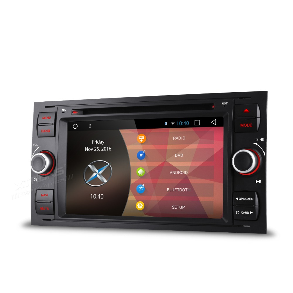 Xtrons 7 inch android 6 0 quad core 2 din head unit car dvd player for ford connect connect tramsit fusion kuga galaxy s max in car multimedia player from
