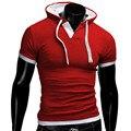 2017 Nueva Llegada Sudadera Casual de Las Camisetas de Manga Corta Camisas Delgadas Con Estilo de Lujo de la Marca Camiseta Para Hombre Homme Plus Tamaño