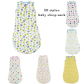 77cm*45cm Baby Swaddle Bag Muslin Cotton Newborn Parisarc Thin Iinfant Summer Swaddling Blanket AntiTip Children Sleepsacks bebe
