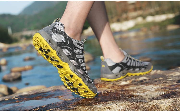 New 2017 Summer Unisex Aqua Shoes Air Mesh Clorts Outdoor Shoes Women Sneakers Lace Up Breathable Hiking Shoes Size 35-44 V1 (41)