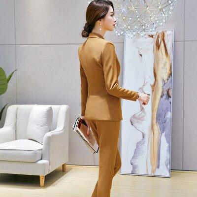 Autunno Donne Due Pantaloni Professionale Delle E Vestito Modo Piccolo pezzo Temperamento Del Tendenza Nuovo Ol Di 2 1 Sottile Inverno Nove qrwr4x