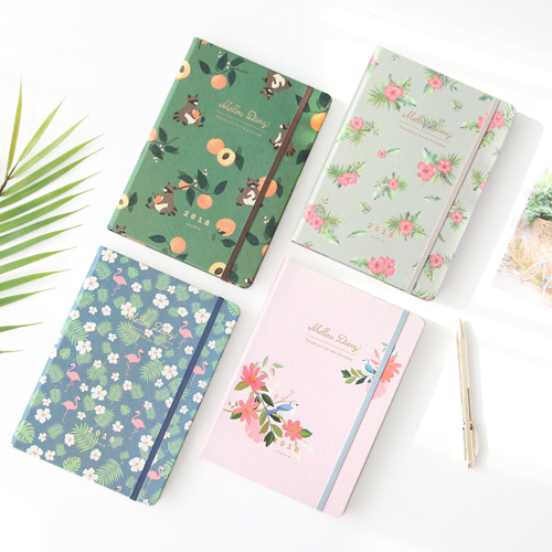 Floral Flamingo Theme Creative 2018 Weekly Planner Band Journal Notebook 13.9*19.4cm Korean Fashion Scheduler 192P Free Shipping sosw fashion anime theme death note cosplay notebook new school large writing journal 20 5cm 14 5cm