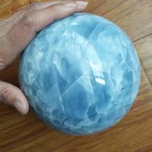 5A+ Natural celestine stone crystal ball divination quartz wedding dress photography decoration