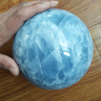 5A+ Natural celestine stone crystal ball divination quartz ball wedding dress photography decoration ball