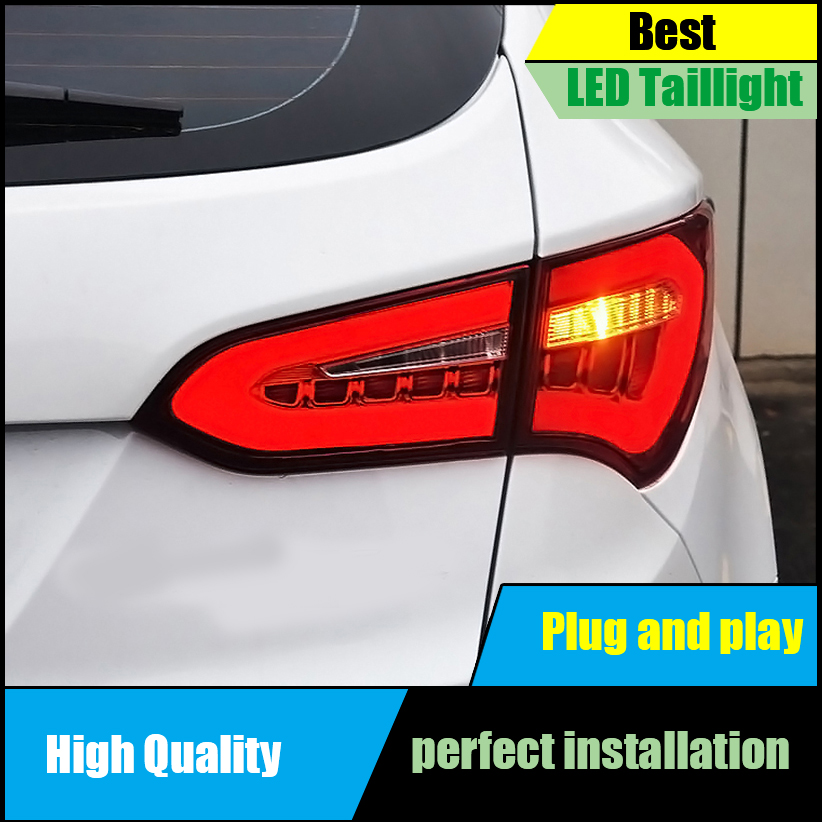 Car Styling Tail Lamp For Hyundai SantaFe IX45 LED Tail Lights 2013 2014 2015 Rear Lamp Taillight Brake+Park+Signal Light Parts цены