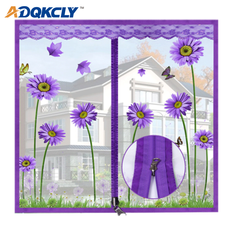 ADQKCLY Encryption Anti-mosquito Window Mesh Polyester Fiber With Zipper Design Anti-dust Summer Window Screen Easy Install