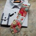 2017 8 CM Homens de Negócios Casual Colorido Flor Floral Festa de Casamento Gravata Gravata de Alta Qualidade À Noite Garantia de Qualidade ML057