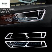 4 шт./лот, хромированные автомобильные наклейки из нержавеющей стали, для межкомнатных дверей, рукопожатие, декоративная крышка для 2012- AUDI Q5 8R