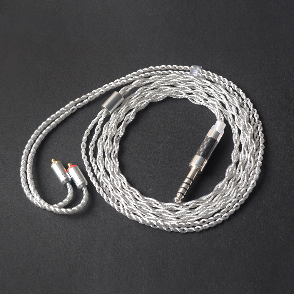 OKCSC OCC MMCX/0.78 2PIN Connector Aftermarket Headphone Cables 4.4mm Balance Plug Plated Silver for Sony ZX300A NW-WM1A NW-WM1Z плеер sony nw a35hn