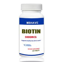 Biotin 5000 mcg 120 таблетки Макс сильные волосы кожи и ногтей поддержка