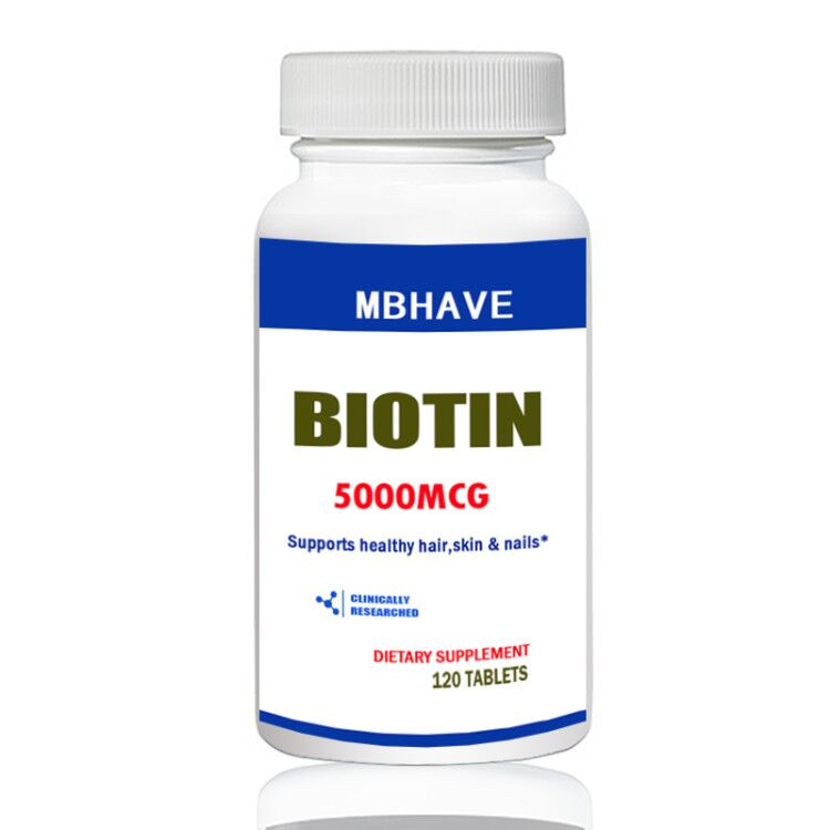 Biotin 5000 mcg 120 Tablets Max Strength Hair Skin and Nails Support