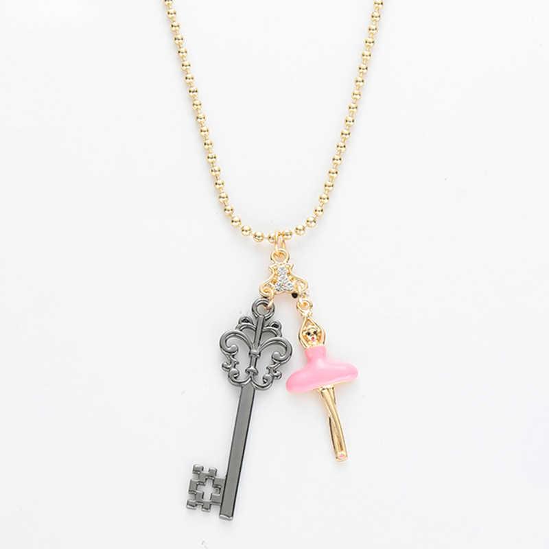 Clara's Nutcracker Key Подвеска Kette балетные амулеты на заказ ожерелье для женщин Four Realms